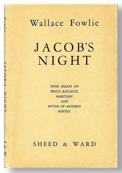 New York: Sheed & Ward, 1947. First Edition. Octavo (21cm.); original cloth in white printed dust ja...