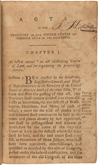 [Bound Volume of Early Tennessee Laws, Encompassing Both Territorial and Early State Imprints, and the First State Constitution]