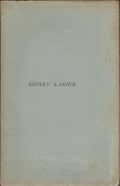 Savannah: Townsend, Printer and Binder, 1888. First Edition. Wraps. Good +. Wraps. Approx. 9.5