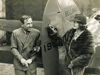 "Portrait of Jim Mollison and the actress Dorothy Ward, who christened his Bellanca plane ""Dorothy"" at Croydon Aerodrome by MOLLISON, Jim"