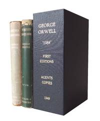 image of Nineteen Eighty-Four - Orwell's Agents' copies with their bookplates - both Maroon and Green dust wrapper