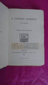 A CHILD'S GARDEN OF VERSES [With Signature of R. M. Ballantyne to the Title Page]