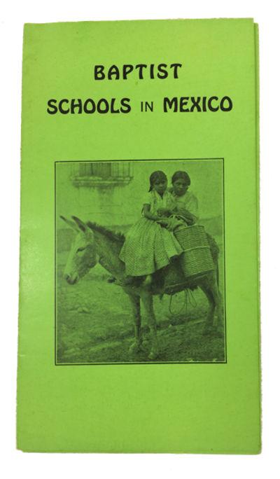 New York: Women's American Baptist Home Mission Society, 1932. Near Fine. Single lime-green sheet fo...