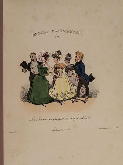 Paris: Chez Gihaut frères, 1828. Henry Monnier's Rare Album of Parisian Manners MONNIER, Henry. Moe...