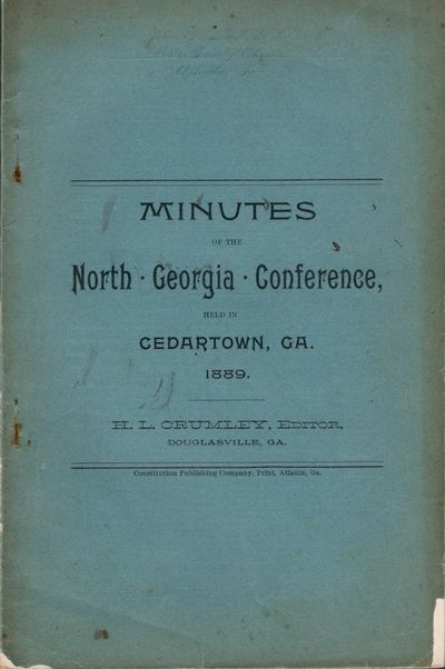 Atlanta: Constitution Publishing Company, 1889. Wraps. Good. Stapled wraps. 56 pages, pages of adver...