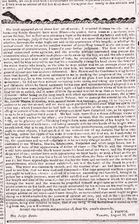 Five Issues of the Independent Chronicle and Boston Patriot August-September, 1819, Following the Progress of the Recently-Sighted Sea Serpent.