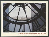 GRAND MARNIER POSTCARD, CLOCK FACE OF THE MUSEE D'ORSAY, PARIS