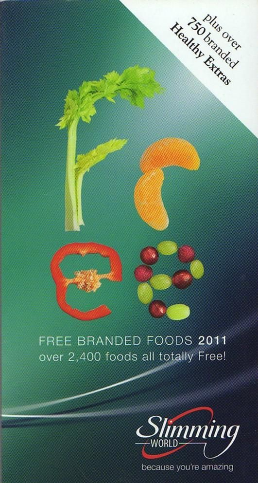 2011 Slimming World Free Branded Foods 2011 By Slimming