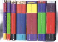 SEVEN Volumes + Newt Scamander banner: Harry Potter & the Philosopher's Stone ( AKA: Sorcerer's Stone ); Chamber of Secrets; Prisoner of Azkaban; Goblet of Fire; Order of Phoenix; Half Blood Prince; Deathly Hallows book 1 2 3 4 5 6 7 ( Philosophers )