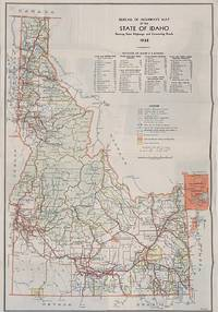 Bureau of Highways Map of the State of Idaho, Showing State Highways and Connecting Roads, 1938