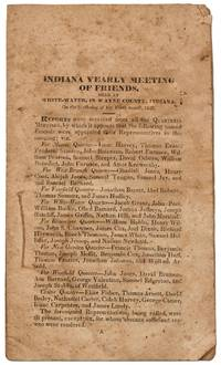 Indiana Yearly Meeting of Friends, Held at White-Water, in Wayne County, Indiana On the Sixth-day of the Tenth month, 1828