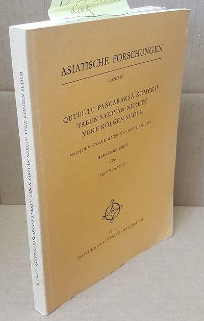 Wiesbaden: Otto Harrassowitz, 1961. First. Octavo in soft covers; VG- condition; spine light brown w...