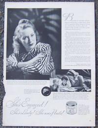1944 WORLD WAR II POND'S COLD CREAM MAGAZINE ADVERTISEMENT
