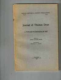 image of Journal of Thomas Dean; A Voyage to Indiana in 1817