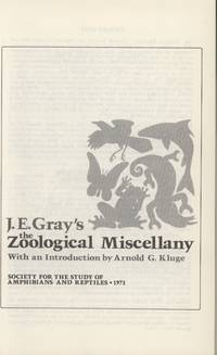 The Zoological Miscellany