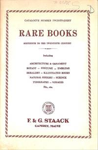 Catalogue 28/n.d. : rare books, sixteenth to the twentieth century  including architecture & ornament, botany, costume, emblems, heraldry,  illustrated books, natural history, science, typography, voyages, etc, etc.