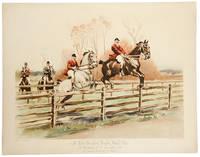 The Meadow Brook Hunt, At Westbury, L. I., November, 1892. Mr. Thomas Hitchcock, Jr., Master