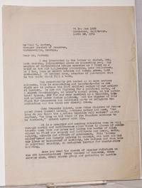 [Carbon copy of three-page typed letter to Paul T. Harber, of the Cartersville, Georgia Chamber of Commerce]
