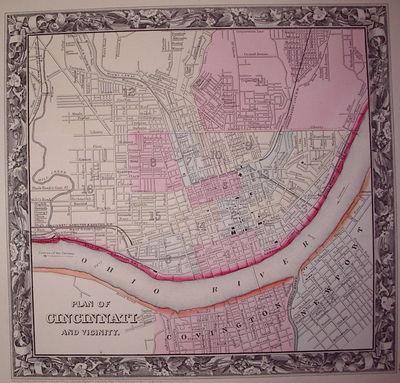 Philadelphia: Mitchell, Samuel Augustus Jr., 1860. unbound. very good. Map. Engraving with original ...