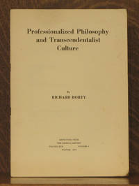 PROFESSIONALIZED PHILOSOPHY AND TRASCENDENTALIST CULTURE