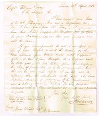 1813 stampless letter naming the benefits of selling American vessels to Russia and employment of American ships if not sold