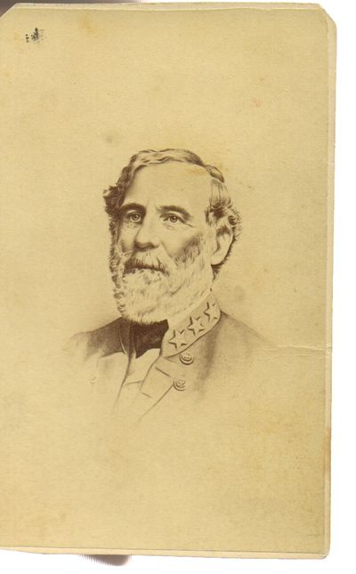 Robert E Lee Carte De Visite Photo Card Circa 1863