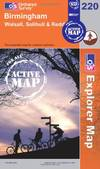 image of Birmingham, Walsall, Solihull and Redditch (OS Explorer Map Active)