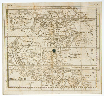 America Settentrional - by Nicolas Sanson, the great seventeenth century French cartographer. 6
