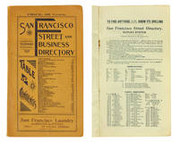 San Francisco Street and Business Directory...