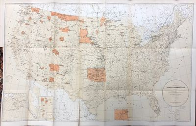Washington: Government Printing Office. Very Good. Color map compiled in 1885 depicting the Indian R...