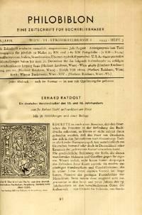Erhard Ratdolt, Ein deutscher Meisterdrucker des 15. und 16. Jahrhunderts [Erhard Ratdolt, A Master Printer from the 15th and 16th Centuries]