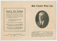 Pamphlet Quotes President Wilson to Support Woman Suffrage in New York State