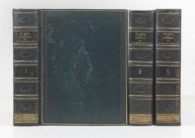 Three vols. Large thick 4to, cont. green calf (joints neatly repaired), single gilt fillet round sid...