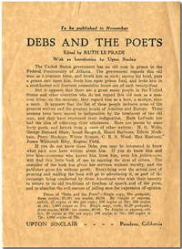 TO BE PUBLISHED IN NOVEMBER  DEBS AND THE POETS ... by  Upton Sinclair - 1920 - from William Reese Company - Literature ABAA-ILAB (SKU: WRCLIT68291)