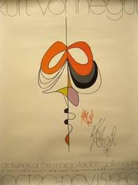 Signed Rolled poster for an Exhibition of Kurt Vonnegut Drawings by Vonnegut Kurt - 1980