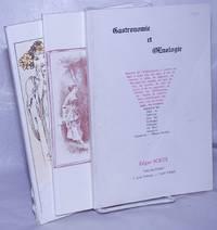 image of Gastronomie - Oenologie du XV Siecle a Nos Jours: three unduplicated cookbook catalogues:  Bibliotheque d'un Gourmet  / Gastronomie et OEnologie  /  Chasse Gastronomie Oenologie