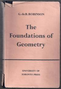 The Foundations of Geometry. Mathematical Expositions, No. 1. Fourth Edition