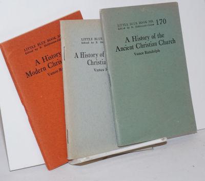 Girard, KS: Haldeman-Julius Company, 1924. Three booklets in the Little Blue Book series, 64p. each,...