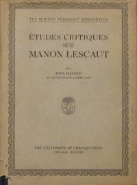 Etudes Critiques Sur Manon Lescaut