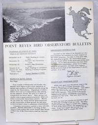 Point Reyes Bird Observatory Bulletin