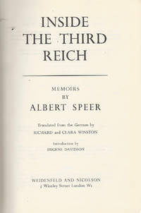 Inside the Third Reich by Albert Speer - II ed - 1970 - from Controcorrente Group srl BibliotecadiBabele and Biblio.com