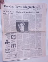 image of The Gay News-Telegraph: serving gay men_lesbians in the heart of America; vol. 4, #4, January 1985: Mahern Drops Indiana Bill/SF Bath House Plot Thickens