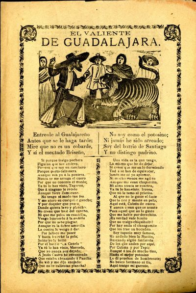 Mexico: A. V. Arroyo, 1913. Unbound. Very Good Condition. Broadside corrido, chipped slightly at edg...