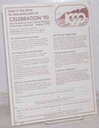 image of Now is the Time to Become Part of Celebration '90: Gay Games III_Cultural festival, Vancouver, Canada August 1990 [handbill]