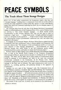 Peace Symbols:  The Truth about Those Strange Designs by American Opinion - 1970 - from Hard-to-Find Needlework Books (SKU: 47534)