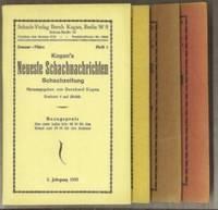 Kagan's Neueste Schachnachrichten Schachzeitung Volume 2