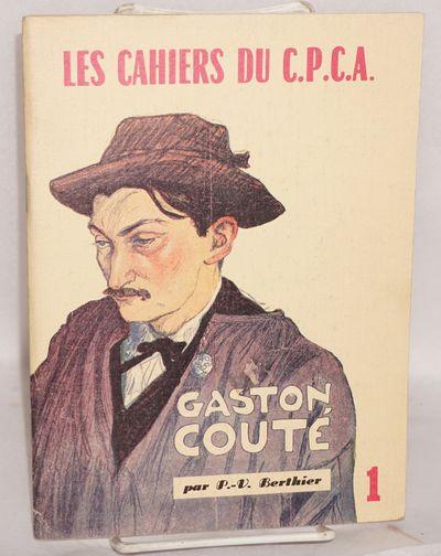 Villeneuve-St-Georges: Centre de Propagande et de Culture Anarchiste, 1980. 47p., illustrated wraps....