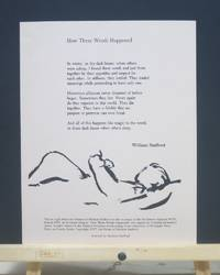 How These Words Happened ( Broadside)