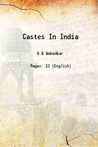 Castes In India [Hardcover]