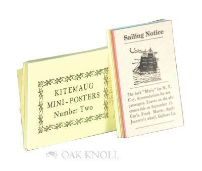 Spartanburg, SC: Kitemaug Press, 1972. cards in printed paper folder. Miniature Books. oblong miniat...
